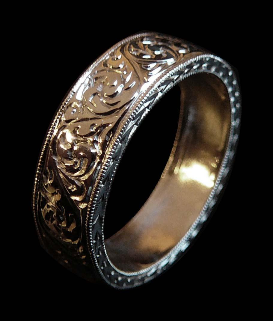 Ring Patterns Hand Engraved by Adam Amara